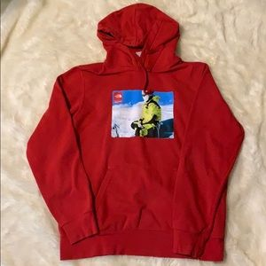 Supreme North Face Red Hoodie